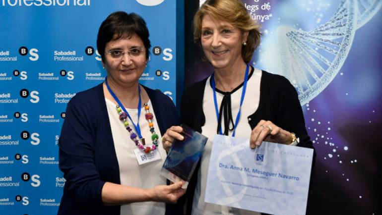 The Dra. Anna M. Meseguer awarded by the College of Biologists of Catalonia